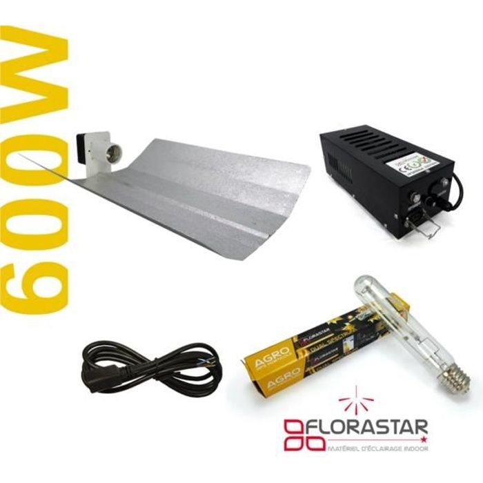 Kit lampe 600W Florastar Agro - Black Box