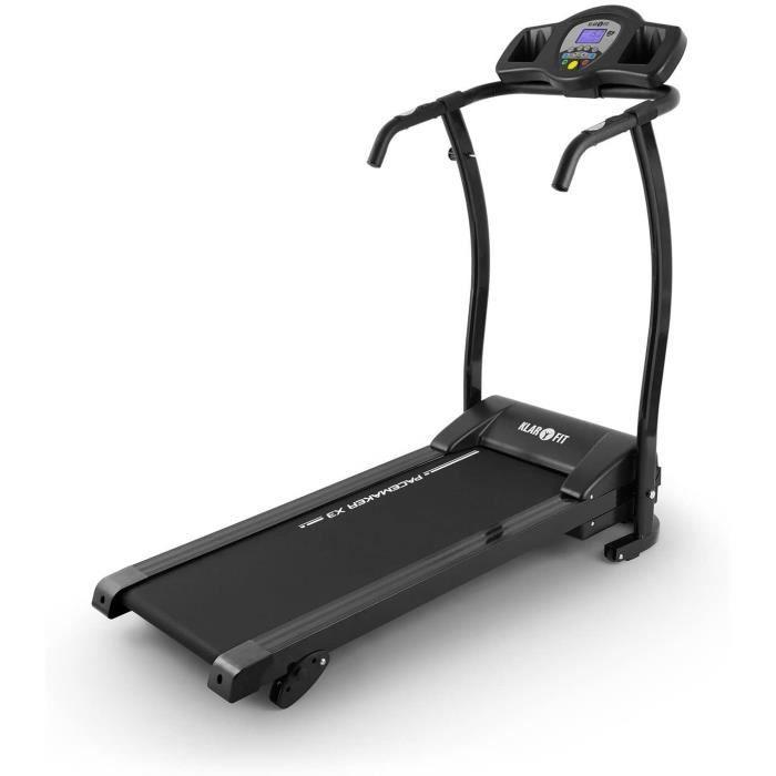 Klarfit Pacemaker X3 - Tapis de Course Pliant, Home Trainer, 1,5 ch, 0,8-12 km-h, Cardiofr&eacutequence m&egravetre, LCD, 12 p56