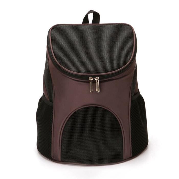 Sac de transport,Sac à dos chat Portable pour chien Grand espace grille, fenêtre respirante, voyage animal de - Type Coffee-S