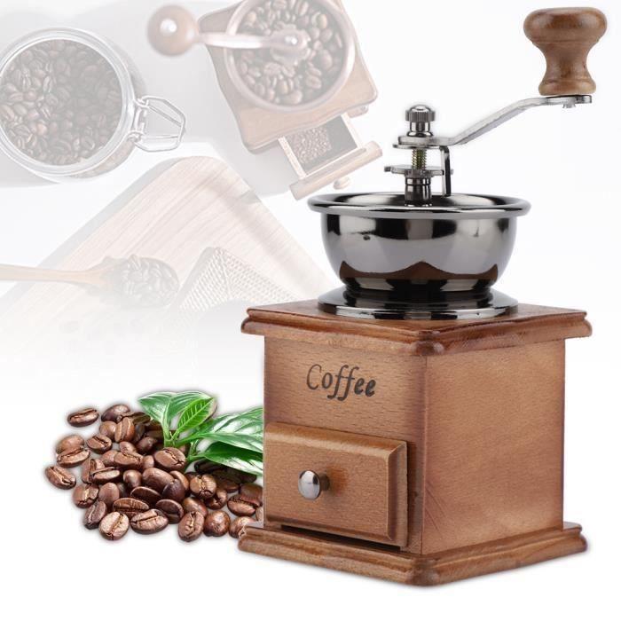 Moulin à grains de café manuel en bois classique
