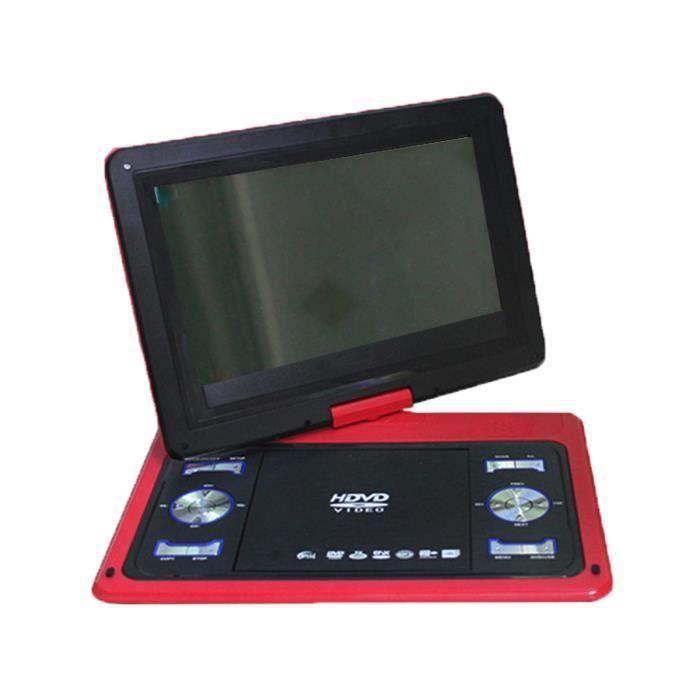 Voiture Lecteur DVD Portable 180 ° Écran Pivotant 13.8'' + Télécommande Rouge Aw68564