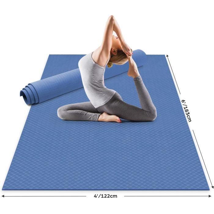 Odoland Tapis de Yoga Extra Large 183x122x0.6cm, Grand Tapis Gym en TPE matériaux Recyclable, Ultra antidérapant et Durable pour Pil