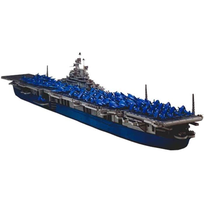 KIT MODELISME A CONSTRUIRE X-Toy Papier Militaire Puzzle Mod&egravele Jouets, 1-400 USS Intrepid Avions Enfants Jouets Et Cadea878