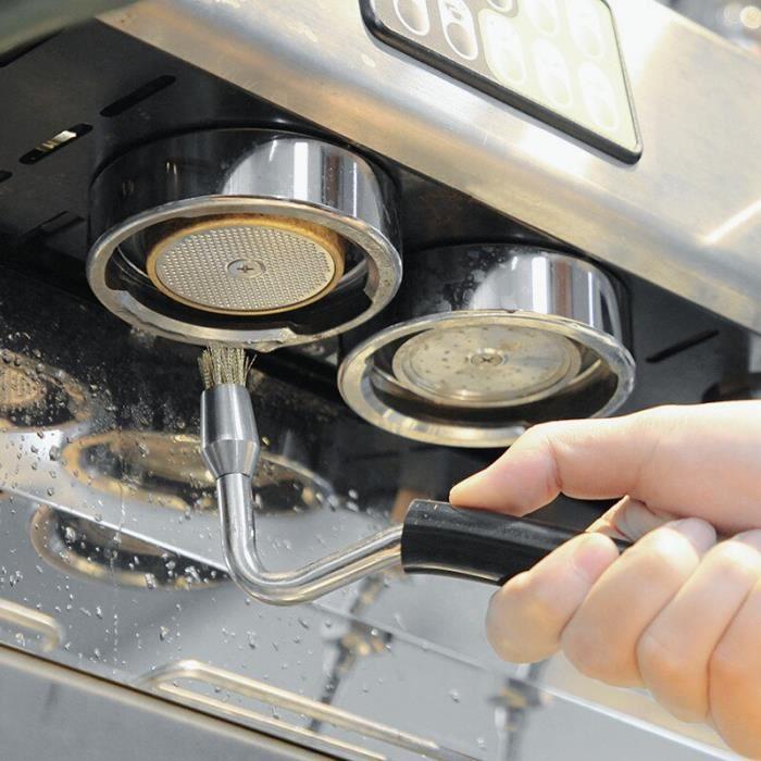 Machine à café,Machine à café semi automatique brosse propre brosses à vapeur haute pression Machine à café professionnelle et