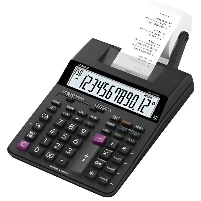 CASIO Calculatrice imprimante HR150 RCE noire