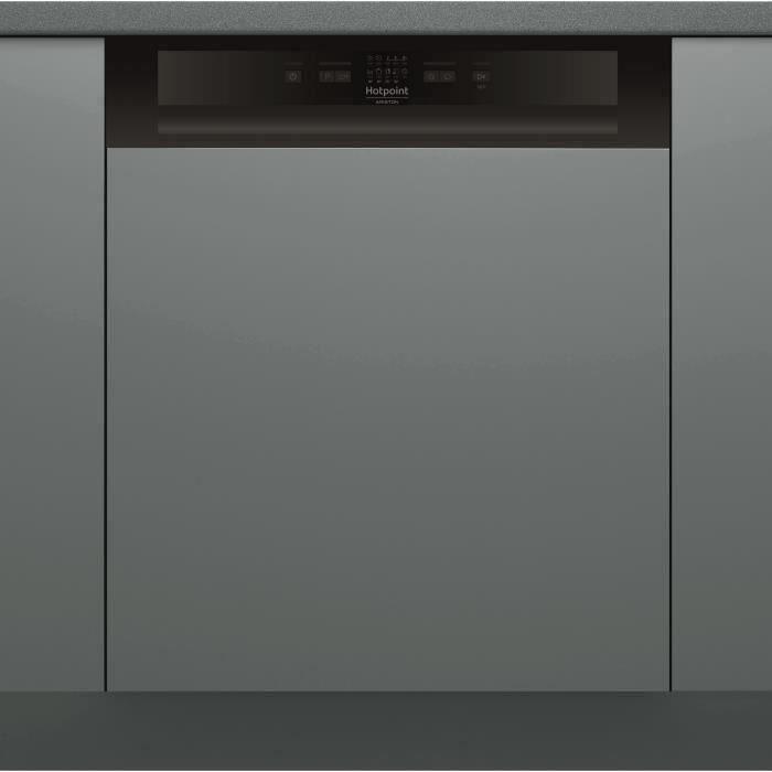 Lave-vaisselle encastrable HOTPOINT HBC2B+26B - 14 couverts - Induction - L60cm - 46dB - Bandeau inox