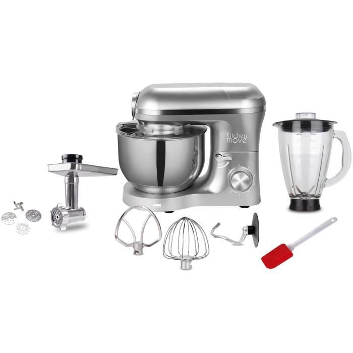 Kitchen Move - Robot patissier hachoir blender multifonction BAT-1518BM - 1500W - Bol 5.5L - VIPER PRO - Gris acier