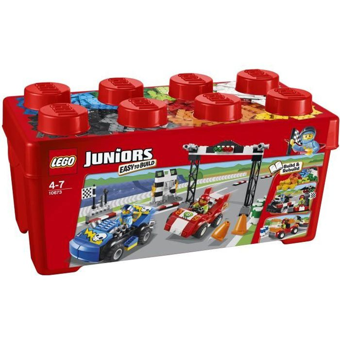 LEGO® Juniors 10673 La Grande Boîte du Rallye Auto - 350 pièces
