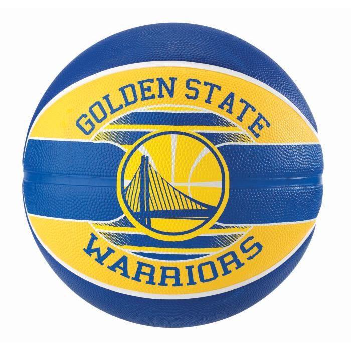 Ballon Spalding NBA Teamball Golden State Warriors coloris Bleu - Jaune