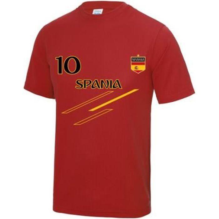 Maillot de foot Espagne homme Taille XS au 3XL (3XL - rouge)