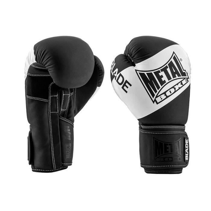 Metal Boxe - Gants de boxe, Blade Black & White - MBGAN205N, Metal Boxe
