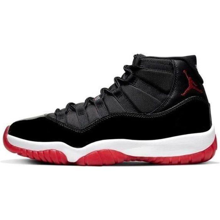 Basket Airs Jordans 11 XI Concorde 45 Retro Chaussures de femme Pas Cher AJ 11 High pour Homme Femme Noir et Blanc