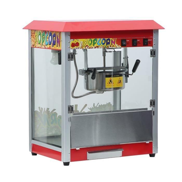 Machine à pop-corn électrique 1400W appareil à maïs commerciale