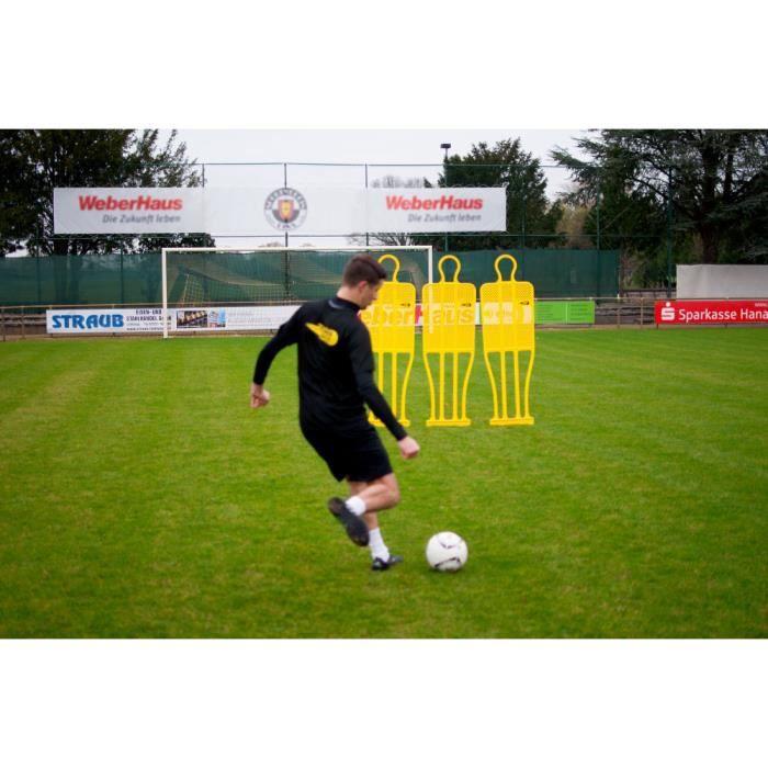 Mannequin football une piece - lot de 3 – Couleur jaune – Mannequin de coup franc