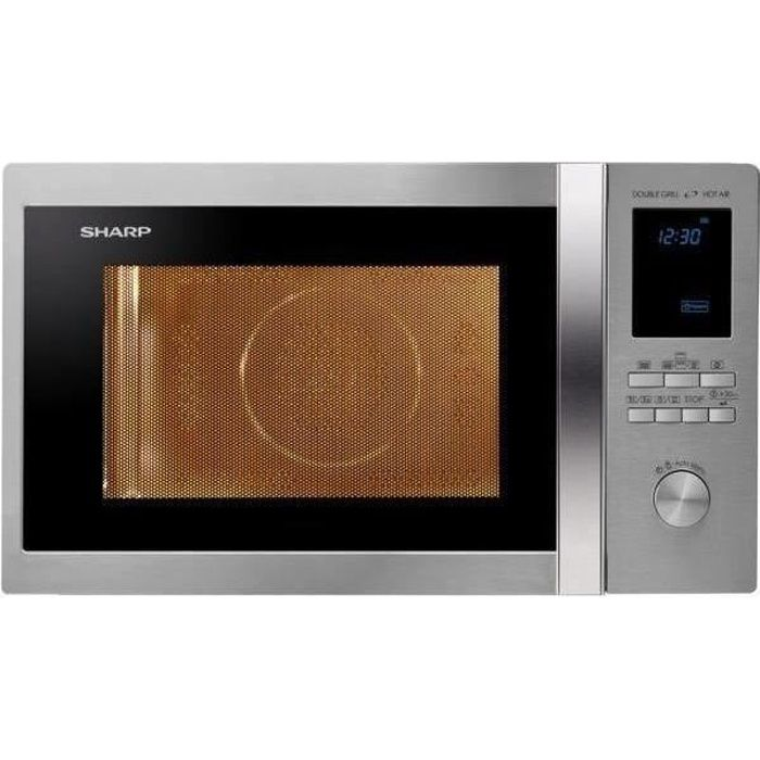 SHARP R982STWE - Micro ondes combiné inox - 42 L - 1000 W - Grill 1300 W - Four convection 2700 W - Pose libre