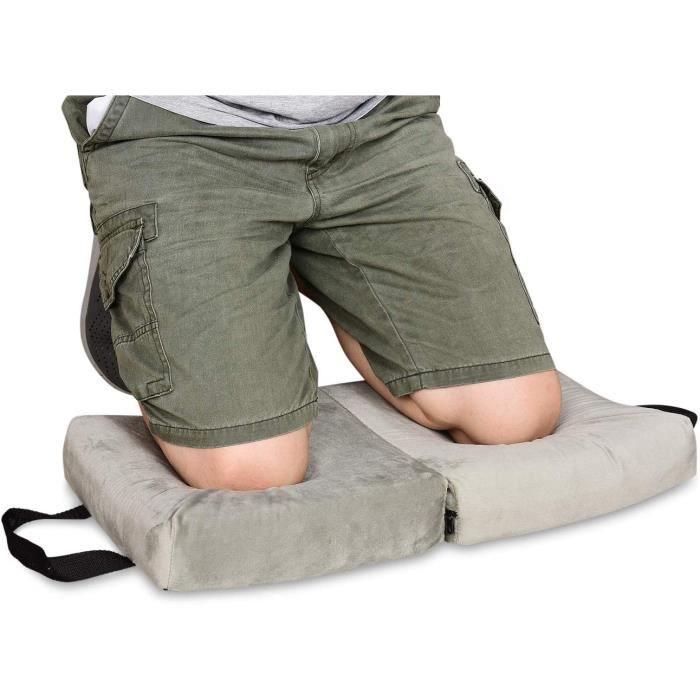 Sunix® Banc Agenouilloir de Jardin, Avec 2 sacs à outils de taille Siège de Jardin Pliable, Vert, Taille déployée: 58*27.5*49CM
