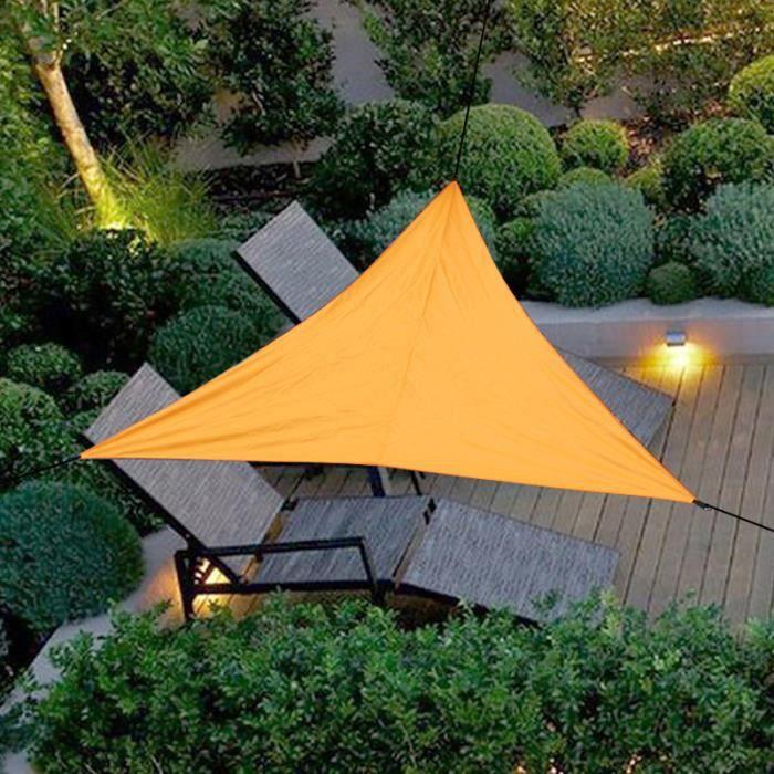 Voile D'ombrage Triangulaire Imperméable Pour Jardin Terrasse 4X4X4M Orange