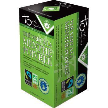 Touch Organic The vert BIO a la menthe poivree …