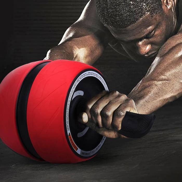 Ab-Carver Pro appareil exercice avec coussin de genou - Rouge + noir