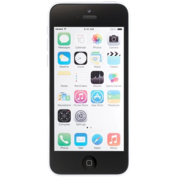 apple iphone 5c 16gb reconditionn a neuf blanc achat. Black Bedroom Furniture Sets. Home Design Ideas