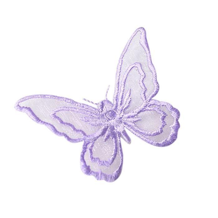 Papillons brodé fer sur appliques pack de 12