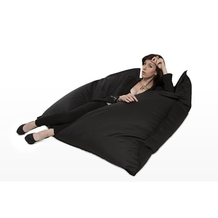 coussin g ant the big bag noir achat vente pouf poire 100 polyester cdiscount. Black Bedroom Furniture Sets. Home Design Ideas