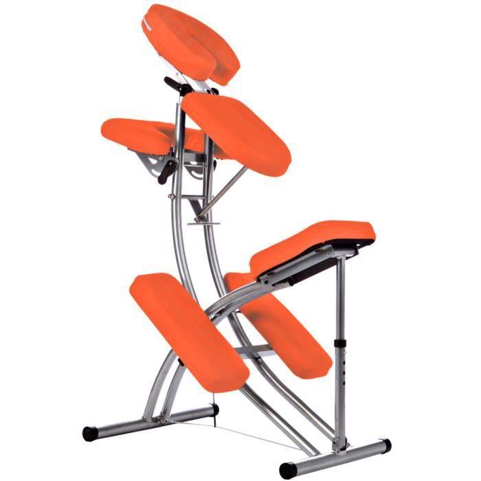Chaise de massage avec le sac 8 kg Pliante Orange KINGPOWER