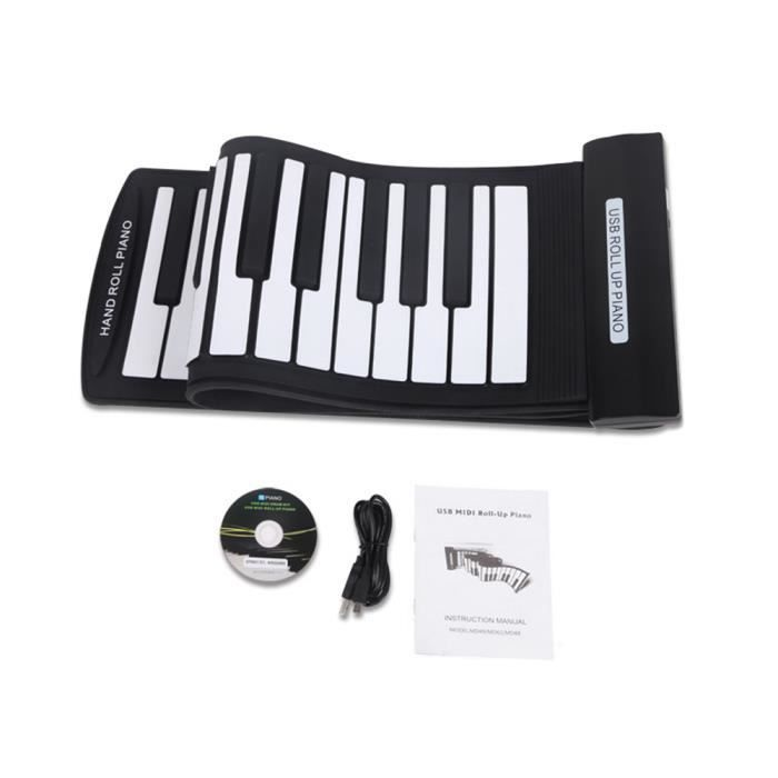 61 touches flexible piano clavier usb midi lectronique. Black Bedroom Furniture Sets. Home Design Ideas