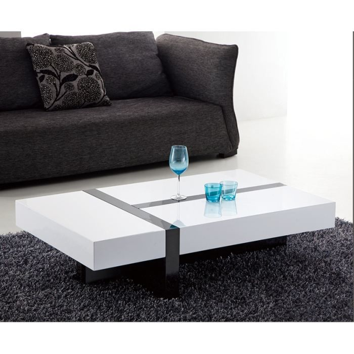 Table basse design rimona laqu e rectangulaire achat vente table basse - Table basse salon design ...
