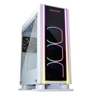 BOITIER PC  ENERMAX Saberay boitier PC blanc gaming ATX, Suppo