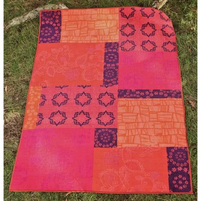 Tapis pas cher lavable en machine isparta patchwork orange 133x190 par home stories tapis Tapis moderne pas cher