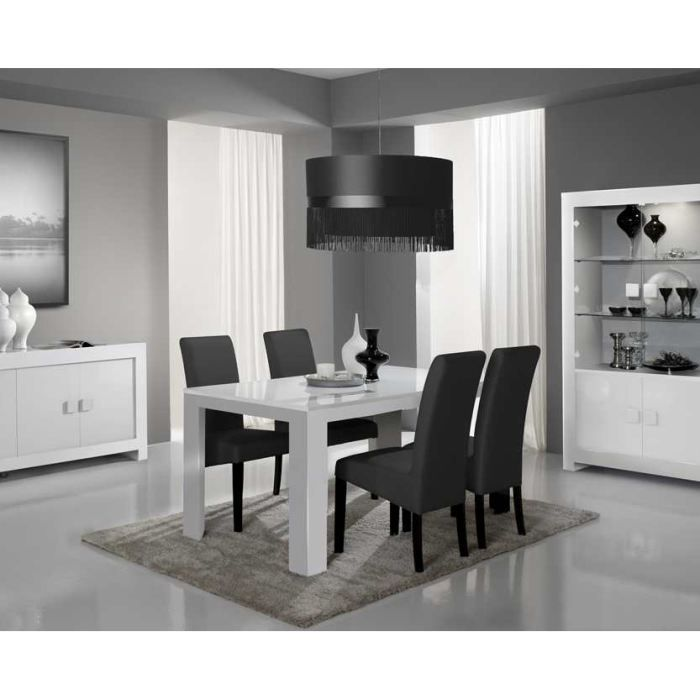 table de salle manger design alba achat vente table a manger seule table de salle manger. Black Bedroom Furniture Sets. Home Design Ideas