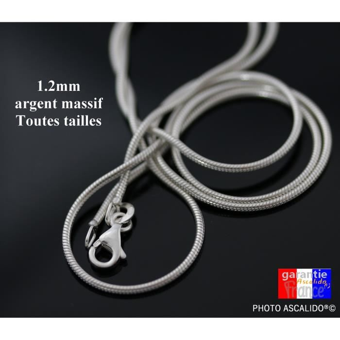 collier homme 60 cm
