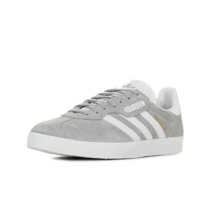 Baskets adidas Originals Gazelle Super Essential Gris, blanc ...