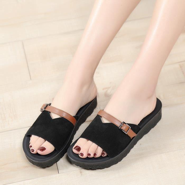 noir bain Chaussures de Chaussures Toning de pin Femme gateau 37 été Toning Santals Chaussure plage marche kiuZPX