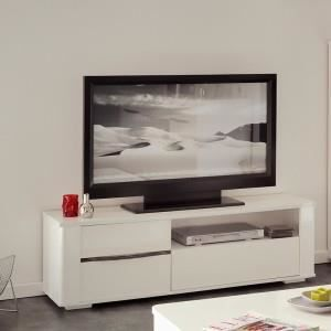 Paris prix meuble tv soft blanc achat vente meuble for Meuble ashley prix
