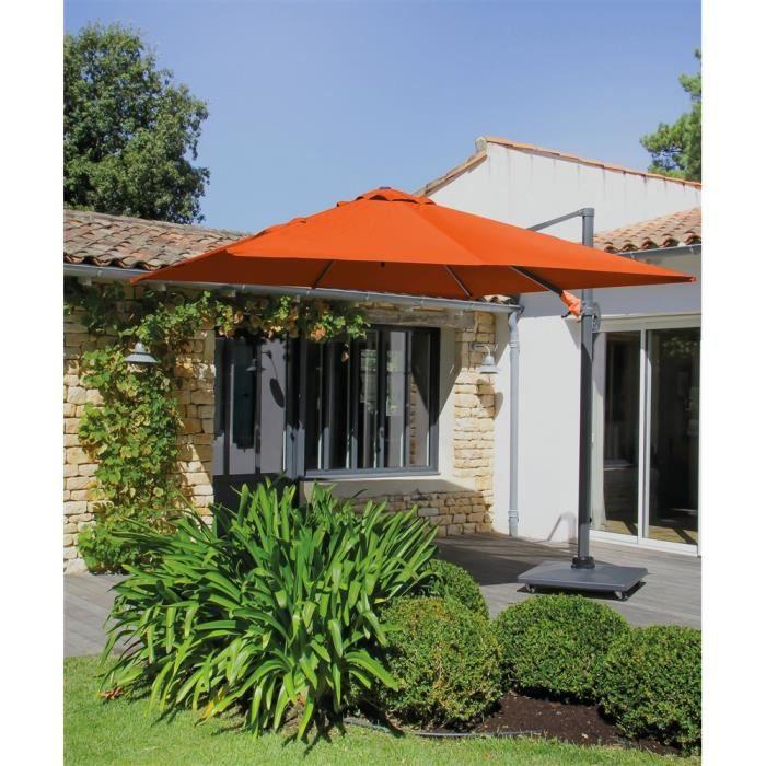 PARASOL Parasol Déporté Alu 3X3 Orange