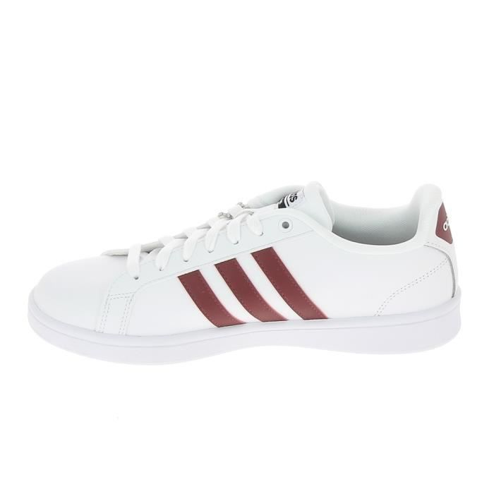 Basket mode - Sneakers ADIDAS CF Advantage Blanc Rouge