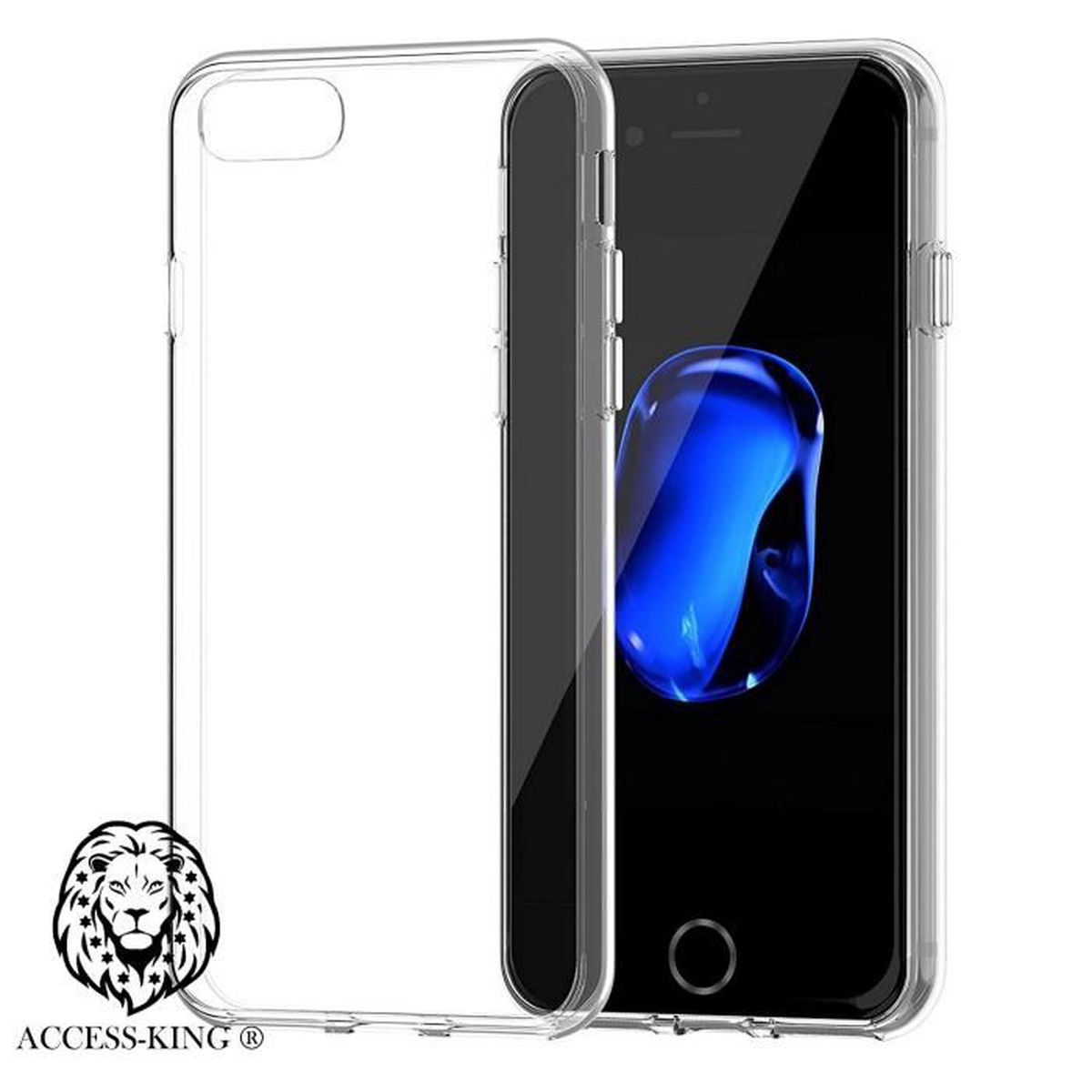 Housse iphone 7 de protection transparente en silicone tpu for Housse silicone iphone 7