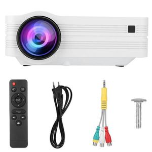 Vidéoprojecteur Lanqi 5500lumens Full HD LED 3D Home Cinema Projec