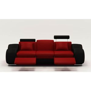 canape design rouge achat vente pas cher. Black Bedroom Furniture Sets. Home Design Ideas