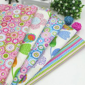 TISSU 40cm * 50cm Summer Style Colorful Tissu en coton p