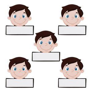 AIMANTS - MAGNETS 5 Nom aimants pour hommes réinscriptible - 5,5 x 5