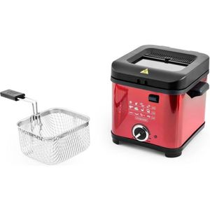 FRITEUSE ELECTRIQUE KITCHENCOOK - FR1010_RED - Friteuse - 900W - 1,5L