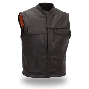 BLOUSON - VESTE Gilet cuir Fashion EB 762