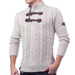 PULL Pull en tricot chandail des hommes Chunky correcti 0013428154c9