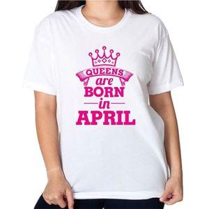 T-SHIRT T-shirt à message graphique pour femme (les reines