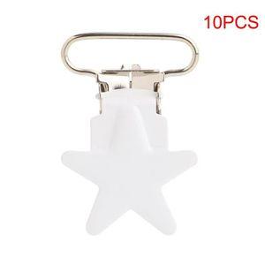 SUCETTE 10 Pcs Attache sucette en Métal en Forme D'étoile