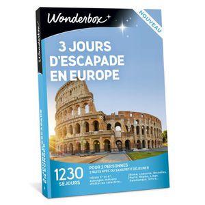 COFFRET SÉJOUR Wonderbox - Idée cadeau - 3 jours d'escapade en Eu