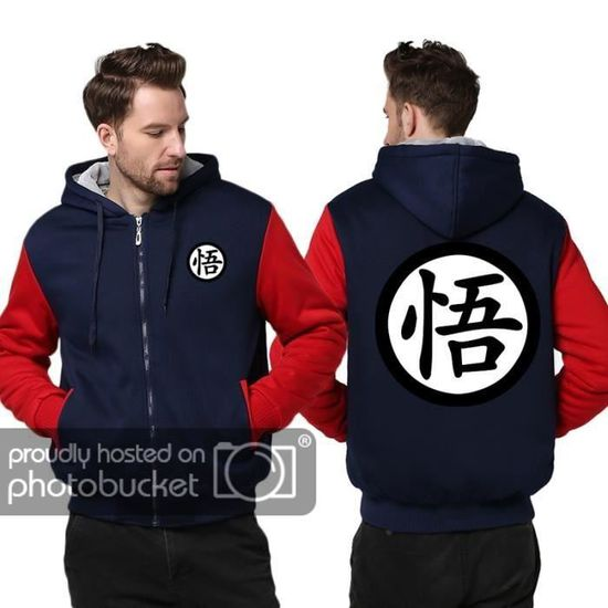 Grande Dragon Ball Taille Impression Vêtement Hoodies Manteau Masculin Hommes Homme pqZXOO